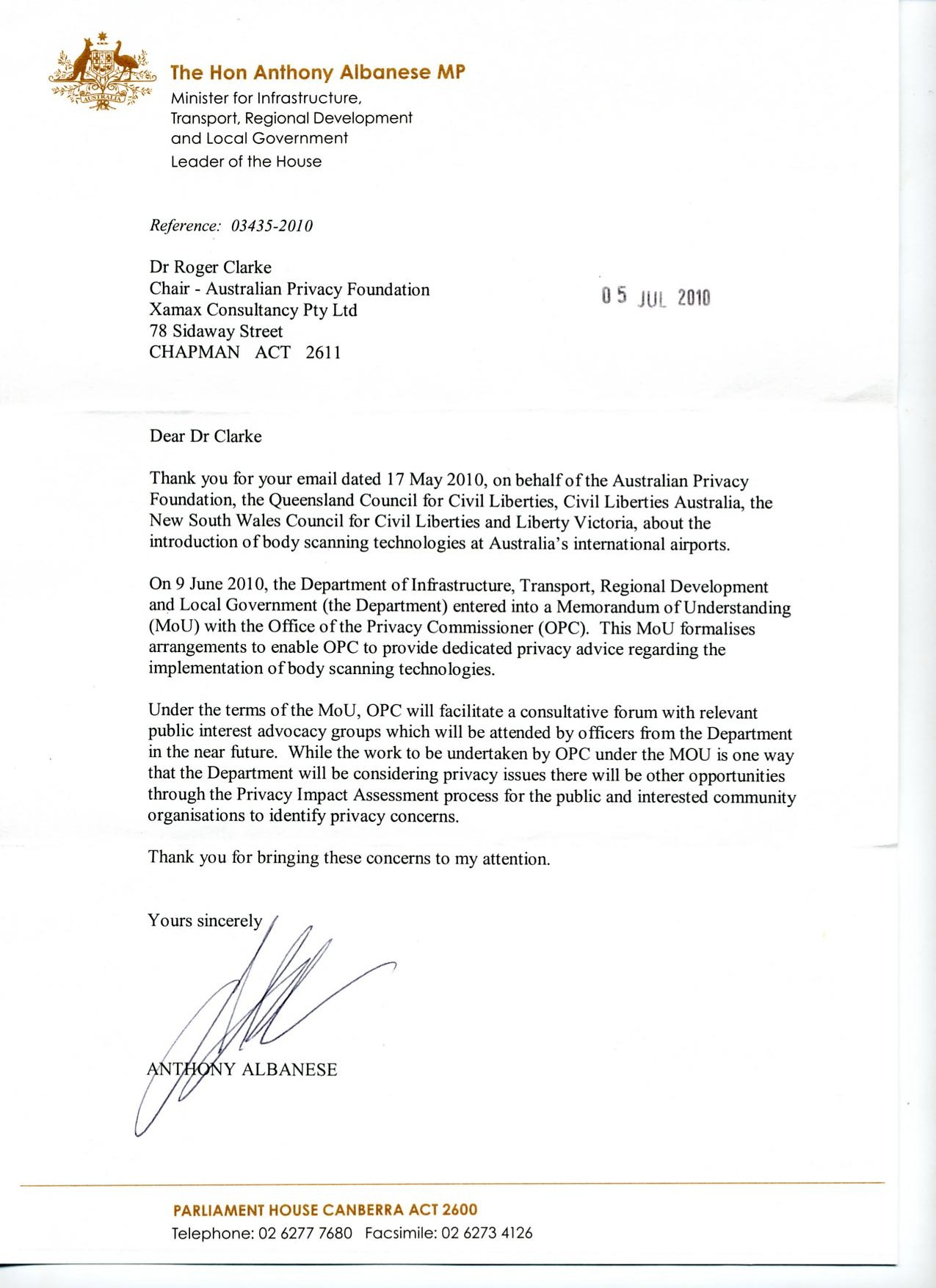 Indexed by date australian privacy foundation ministers reply spiritdancerdesigns Image collections