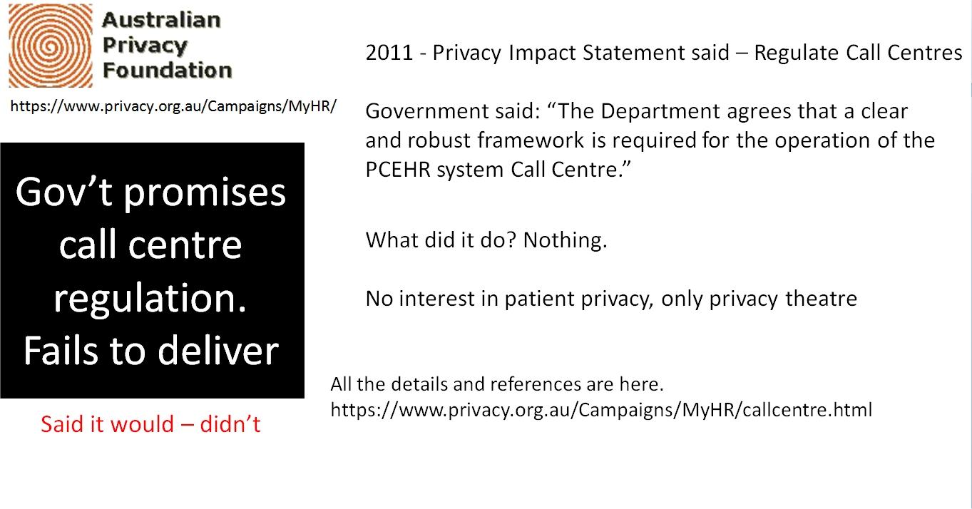 Pivacy Risk - Call Centre