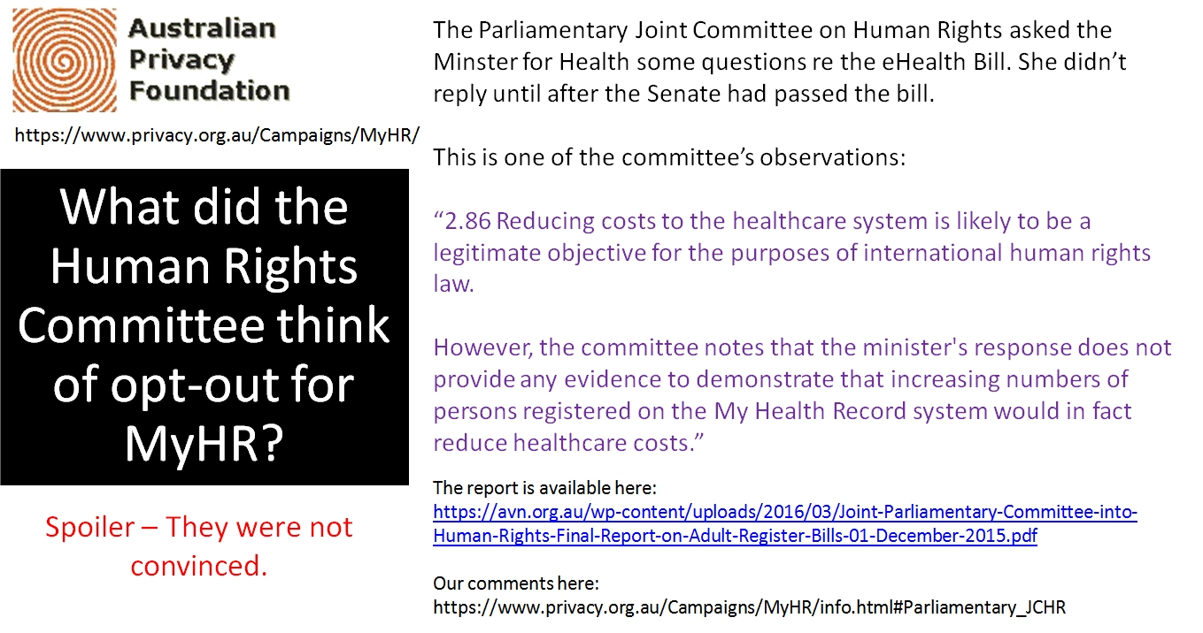 What the Human Rights Committee thinks of opt-out 1