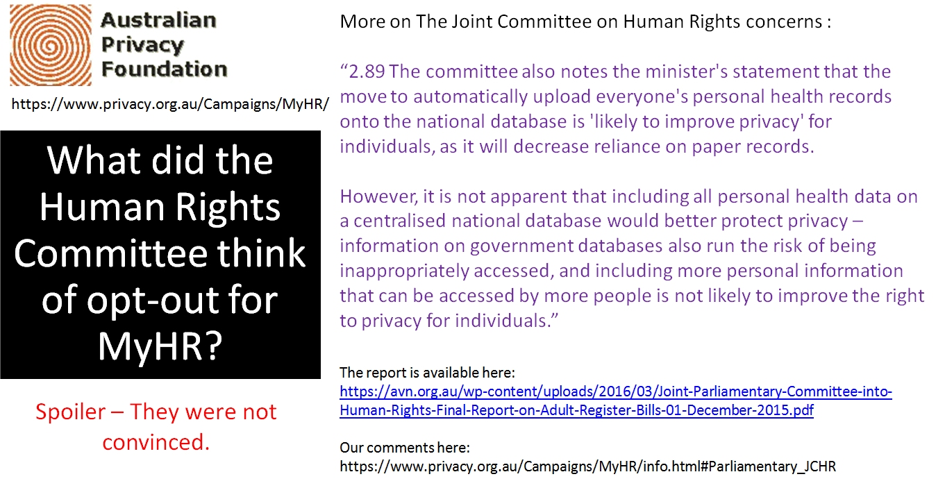 What the Human Rights Committee thinks of opt-out 4